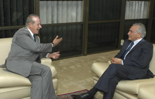 Brazil President Michel Temer and Mario Garnero in 2016